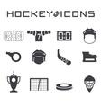 Flat design icons of hockey vector image