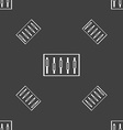 Dj console mix handles and buttons level icons vector image