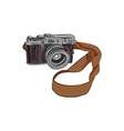 Vintage Camera Drawing Isolated vector image vector image