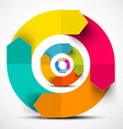 Colorful Paper Circle Arrows vector image