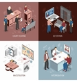 Law System Isometric Concept vector image