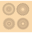 collection mandala meditation oriental yellow vector image