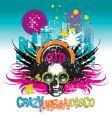 crazy urban disco vector image