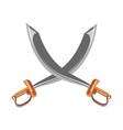 crossed vintage swords vector image