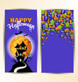 Design element card or poster for halloween day vector image
