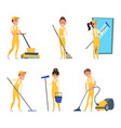 funny characters of cleaning or technician service vector image