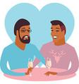 Happy gay couple vector image