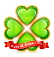 St Patrick Day Congratulation vector image