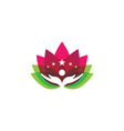 Beauty Lotus Logo Template vector image