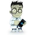 Professor Frankenstein with phone vector image