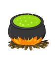 cauldron on firei in flat style vector image