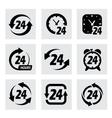 24 hours symbols vector image
