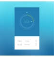 Ui clock for web and mobile applications vector image