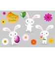 rabbits vector image vector image