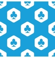 Clubs hexagon pattern vector image