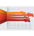 2016 Calender Guitar Headstocks vector image