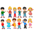 Happy little kids collection set isolated vector image