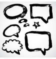 Speech And Thought Bubbles vector image vector image