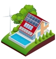 Green House concept Isometric vector image