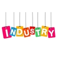 colorful hanging cardboard Tags - industry vector image