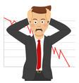 desperate businessman financial crisis concept vector image