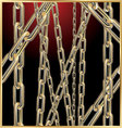 golden chain abstract background vector image