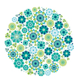 Green design - Flower circle vector image