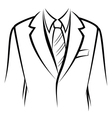 Jacket and tie vector image