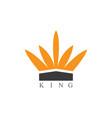 king logo vector image