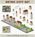 retro buildings vector image