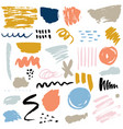 set of brush strokes abstract elements ink stains vector image