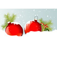 Christmas balls in snow vector image vector image