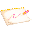 A notebook and color pen vector image vector image