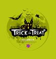 Trick or treat halloween design vector image