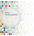 Background with the coloured circles in a vector image vector image