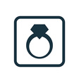 jewelery ring icon Rounded squares button vector image