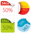 sale labels and stickers vector image vector image