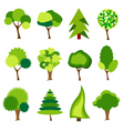 green trees vector image vector image