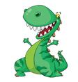 cheerful dinosaur vector image vector image