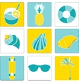 set of summer lovely things vector image