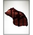 Animal head silhouette vector image