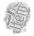 Are Your Sports Memorabilia Faux Or text vector image
