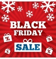 Black Friday Sale background Christmas background vector image