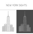 new york sights freedom tower world trade center vector image