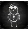 Sunlgass Man Drawing on Chalk Board vector image