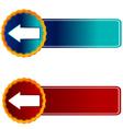 Two arrows vector image