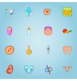 Pregnancy icons set cartoon style vector image