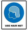 Use hair net sign vector image