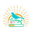 downloads singing bird vector image