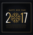 creative 2017 happy new year text with snowflakes vector image